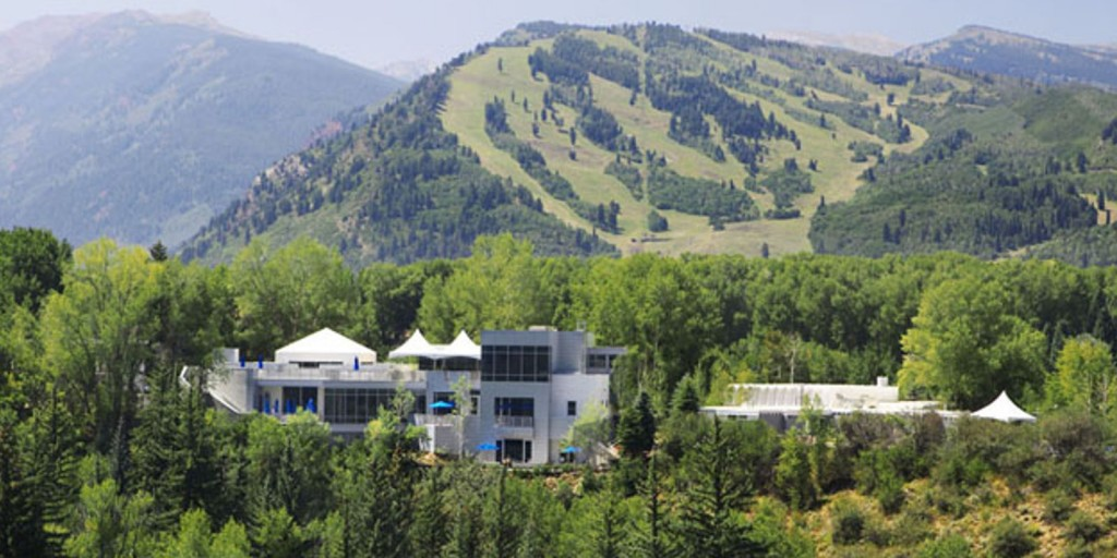 The mountain resort has meadows and forests to explore.