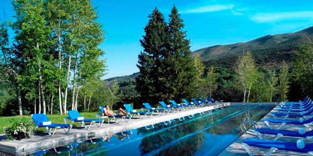 Sunbathe or swim with views of nature.