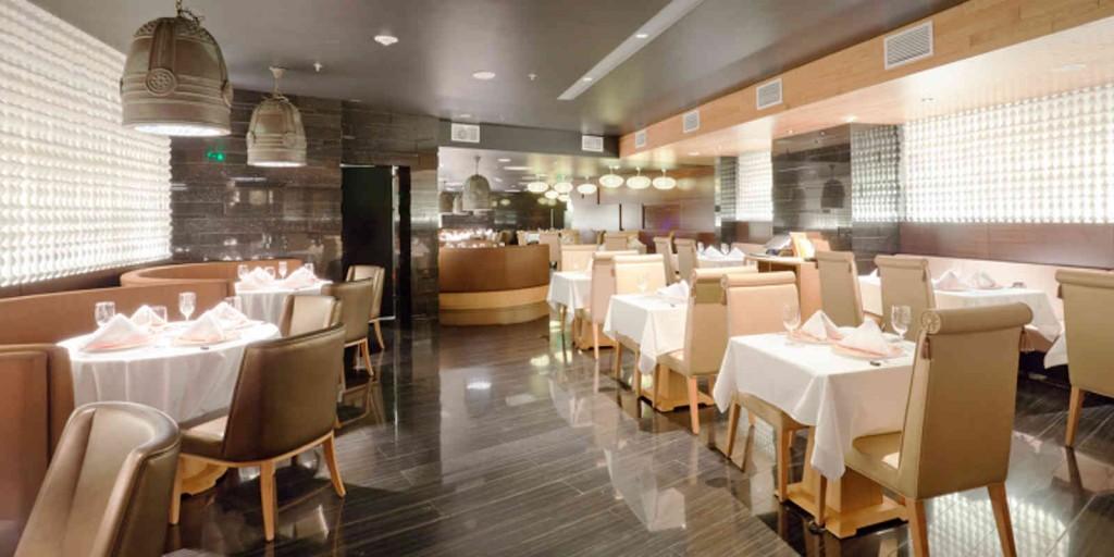 MEGU's contemporary dining room.
