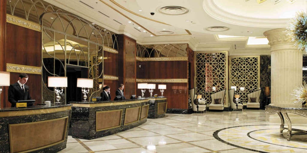 An elegant lobby sets the mood for your stay.