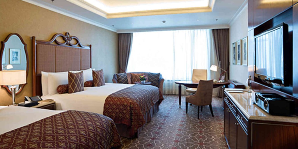 The Luxury Room offers a combination of traditional and contemporary styles.