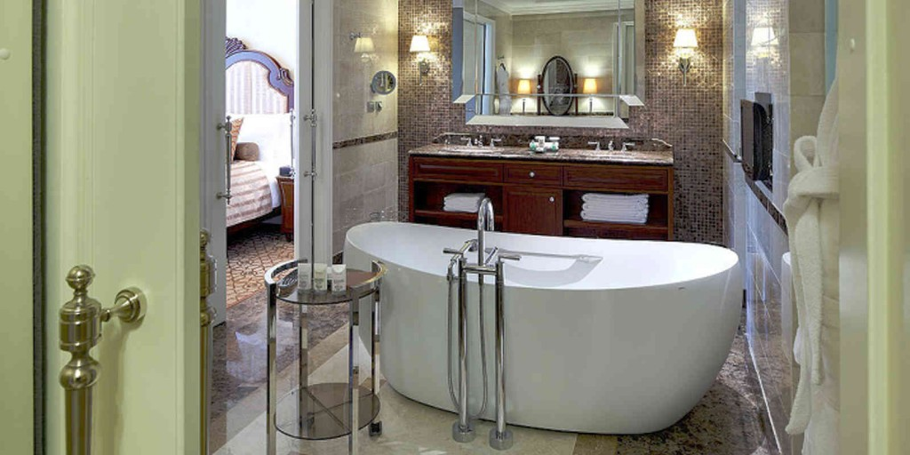 Let relaxation wash you in the Executive Suite bathroom.
