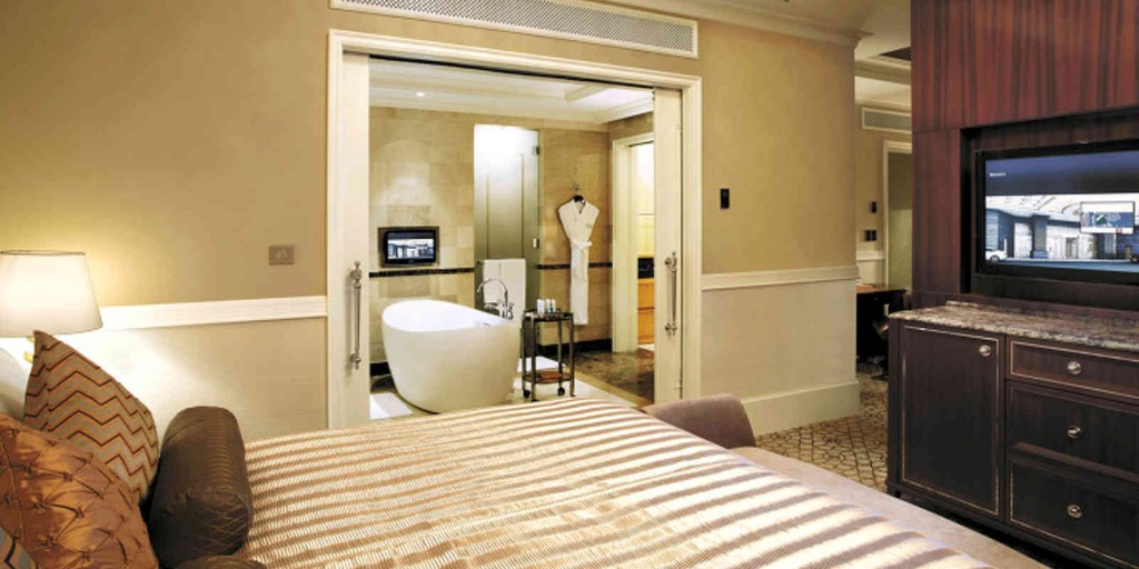 Executive Suite with separate bedroom area.