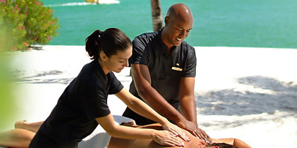 Be pampered with beach deck massage treatments.
