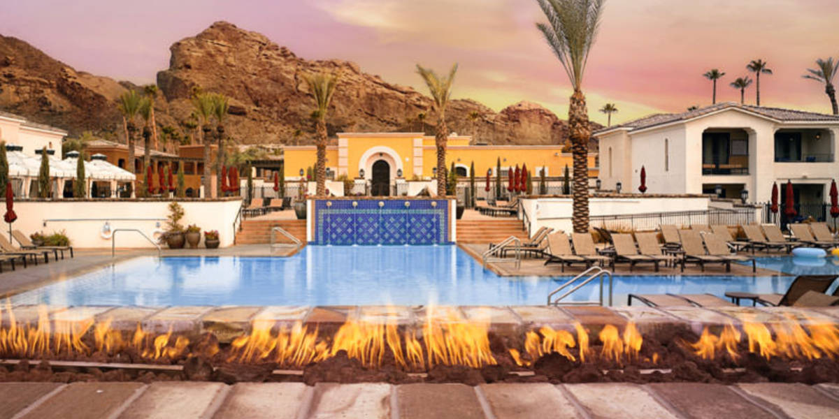Relax on the pool deck as you gaze in awe at the nearby Camelback Mountain.