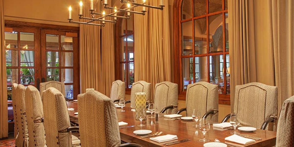 Host your party in one of Prado's elegant private dining rooms.