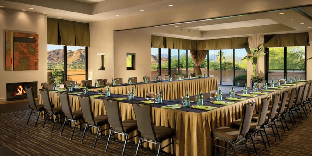 Host your event in the small ballroom.