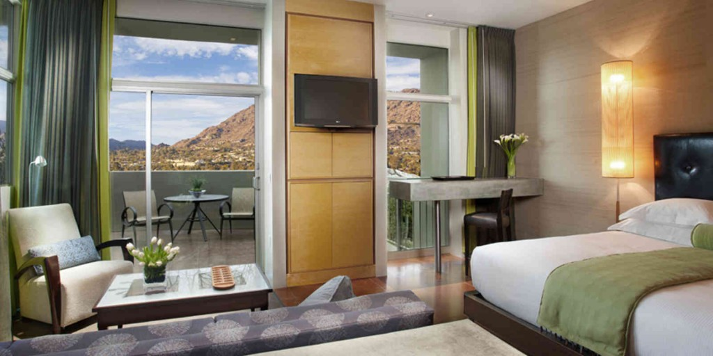 Enjoy the mountain view from your casita.