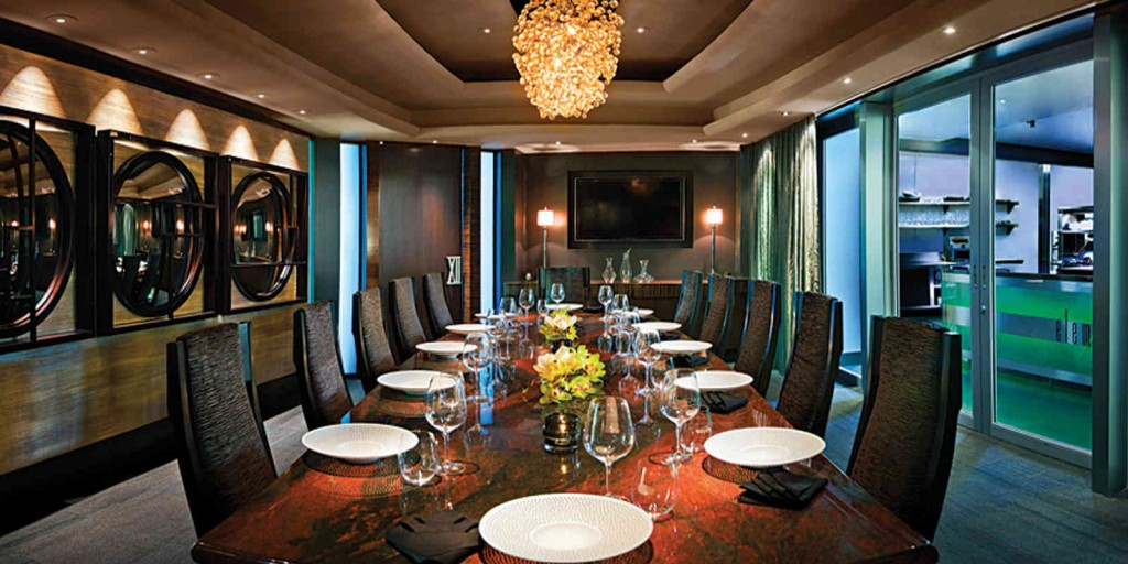 Private dining is available in the XII dining room.