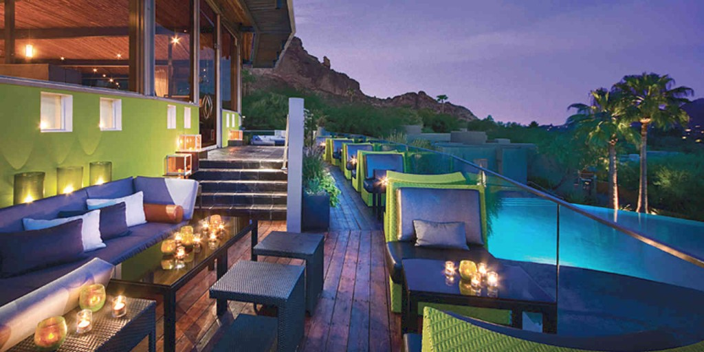 Enjoy the dazzling scenery from the Edge balcony lounge.