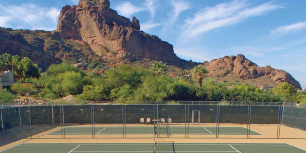 Get a wonderful workout with a game of tennis.